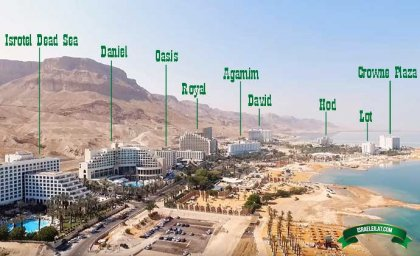 Map of Dead Sea Hotels with Photo and Video